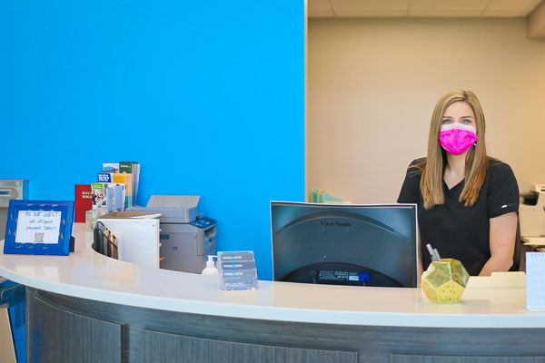 Front desk at Singing River Dentistry